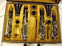 SELMER PARIS SIGNATURE PROFESSIONAL A AND Bb WOOD CLARINETS NEED WORK