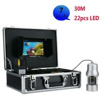 7 Inch Color Screen 30m Underwater Fishing Video Camera Fish Finder LEDs