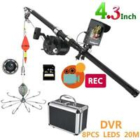 4.3 Inch Color DVR Recorder Monitor IR LED Underwater Fishing Video Camera Kits