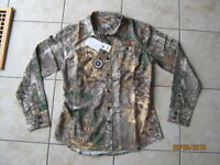 New Women's Under Armour L/S Button Front Performance Field Camo Shirt Small NWT