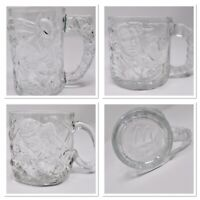 Batman McDonalds Vintage 3D Glass Mugs Set of 3 Batman Forever
