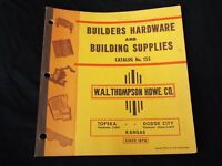 Vintage 1950s BUILDING SUPPLIES Catalog W.A.L Thompson Hardware Co. Kansas