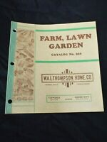 Vintage 1950s FARM, LAWN GARDEN Sales Catalog W.A.L Thompson Hardware Co. Kansas