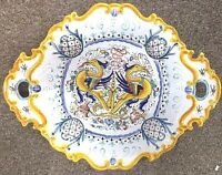 Deruta Pottery 12x15inchOval Centerpiece Raffaellesco Made Painted by hand Italy