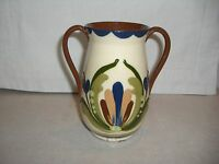 WATCOMBE, TORQUAY, MOTTOWARE, TWO HANDLED VASE OR URN, SCANDY PATTERN, 1884-1901