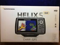 Hummingbird 5 CHIRP GPS G2 Fish Finder 410210-1 Helix  Boat Portable