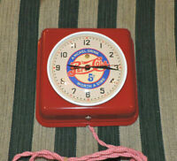 Rare Antique Vintage General Electric 2H08 Wall Clock/ Red Pepsi Cola