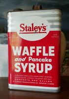 VINTAGE STALEY MAPLE SYRUP CAN/TIN 1 GALLON 1940's