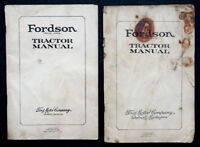 1923 FORDSON Ford Motor Co FORDSON FARM TRACTOR Instruction Book OWNERS MANUAL