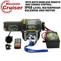 3500LB ATV Winch UTV 12V Electric Remote Waterproof Boat Steel Cable Kit offroad