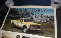 Chevrolet poster ad Chevy 4-Wheel Drive pickup dealer showroom 36