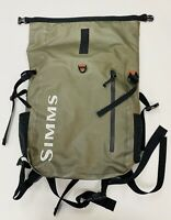 SIMMS Dry Back Pack Roll Top Gray Waterproof Fly Fishing Gear