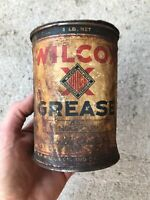 Vtg Wilcox Grease Can 1 Lb Gas Oil Collector Service Station