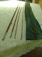Old bamboo fly fishing rod pole 12 2
