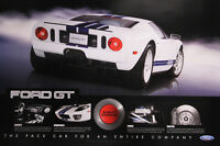 """FORD GT 36"""" X 24"""" 2005 Dealer Poster Print Double Sided 2006 GT40 Carroll Shelby"""