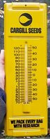 Vintage Cargill Seeds Tin Advertising Thermometer **Excellent Condition**