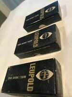 Vintage,ALL STEEL,Leupold Model 3 Scope Rings ,New In Box,USA Made.
