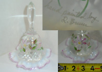 Fenton Bell Hand Painted Signed