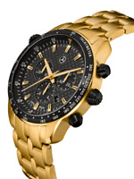 Mercedes Benz Chronograph Men Motorsport Gold Edition from Germany Brand New