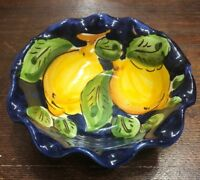 Vietri Pottery-5,1/2 inch bowl lemon.Made/Painted by hand in Italy
