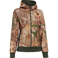 Under Armour Full-Zip Hoodie Realtree Xtra Camo Hunting Jacket  M L Womens