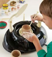 Kids Pottery Wheel, Extra Air-Dry Clay, and Metallic Paints