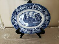 Liberty Blue Staffordshire Platter Serving Plate Governors House China England