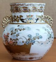 Signed Kinkozan Hosai  Satsuma Vase Antique Japanese Pottery 3 Inch