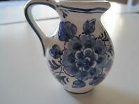 Vintage- Delft Royal Pitcher / Vase From Holland Hand Painted 3