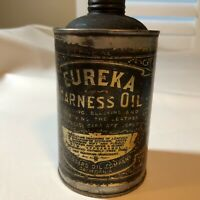 Vintage Eureka Harness Oil by Standard Oil Company California Metal Can