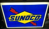 Large Sunoco Single Sided Lighted Store Display Advertising Sign