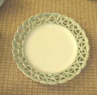 ESTE - Italy - Made for Tiffany 7 Co. -Reticulated Plate - Green Edge - 10 1/4