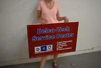 AC Delco Tech Service Sign Embossed tin 1988 dated GM Chevrolet Corvette Iroc