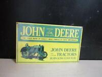 JOHN DEERE Advertising Sign,HEAVY PORCELAIN, 1995 By ANDE ROONEY NEW