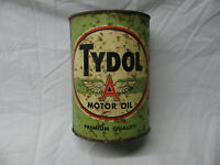 Rare Green 1 QT. Tydol Flying A Motor Oil Can WITH FREE SHIPPING
