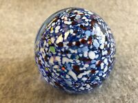 Gentile Glass Multi Color Paperweight