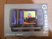New in Box Garmin Striker Plus 9SV with CV52HW-TM transducer 010-01875-00