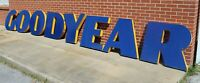 RARE Antique LARGE Original GOODYEAR Porcelain Sign Letters Cookie Cutter