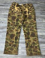 Men's Rattlers Brand Duck Camo Hunting Pants Size 40X32 Made in USA