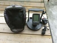 Garmin Fish Finder Echo 150, Base , Case, and Charger