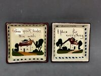 Vtg Set of 2  WATCOMBE TORQUAY MOTTO WARE 3.5