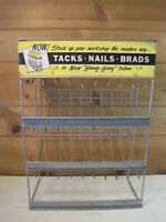 Vintage Holland Tacks, Nails, Brads Hardware Store Metal Retail Display Sign