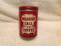 BREAKFAST CALL COFFEE TIN PANTRY COLLECTION CORN STARCH ONE POUND
