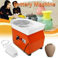 Pottery Wheel 25cm Forming Machine 350W Electric DIY Clay Tool Tray Ceramic Work