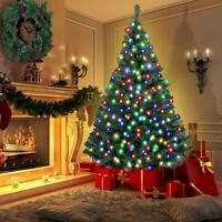 4ft 5ft 6ft 7ft Bushy Christmas Tree Pre-lit LED Xmas Home Decorations W/Stand
