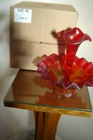 Fenton L.E. 477 Red Ruby Stretch Epergne 6501RL orig box Family Signature Series