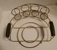 Vintage Lazy Susan or platter holder and Condiments or glasses wire metal rubber