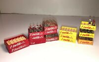Vtg COCA COLA•Miniature Plastic Crates Bottles Crates advertising soda coke