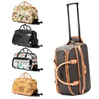 21quot; Rolling Wheeled Duffle Trolley Bag Tote Carry On Travel Suitcase Luggage
