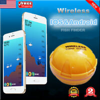 Wireless Fish Detector Finder Sonar Sensor Rechargeable 118FT Depth For Android